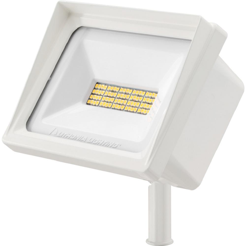 QTE 40-Watt White Outdoor Integrated LED Flood Light