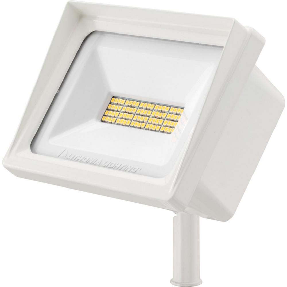 Lithonia Lighting QTE 66-Watt White Outdoor Integrated LED Flood Light was $68.98 now $40.01 (42.0% off)