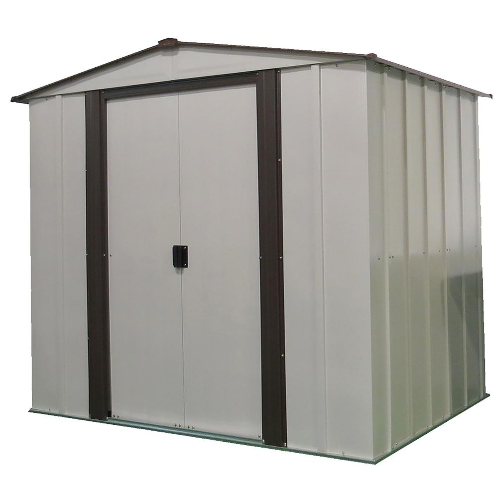 Newburgh 6 ft. X 5 ft. Coffee/Eggshell Steel Storage Shed