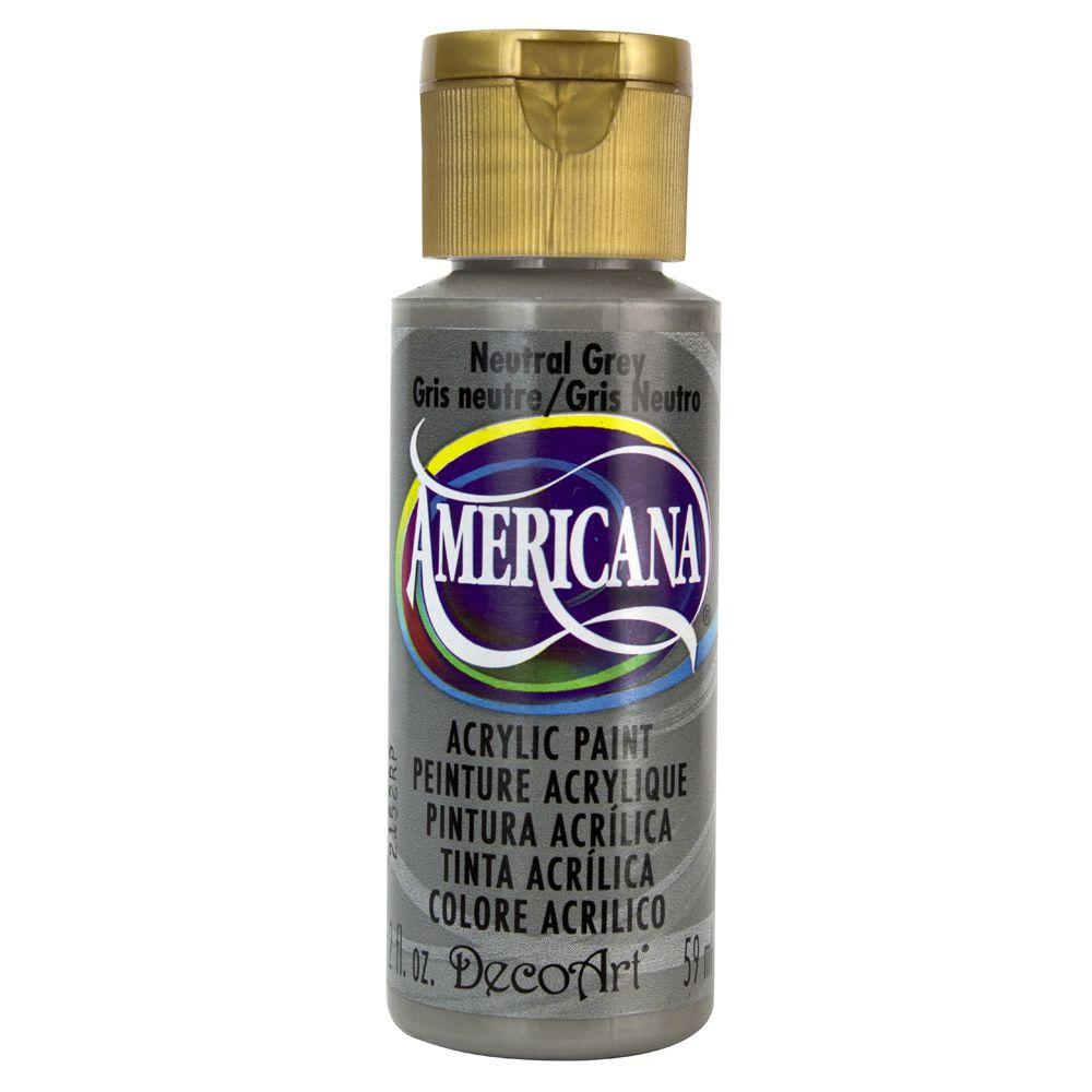 Americana 2 oz. Neutral Grey Acrylic Paint