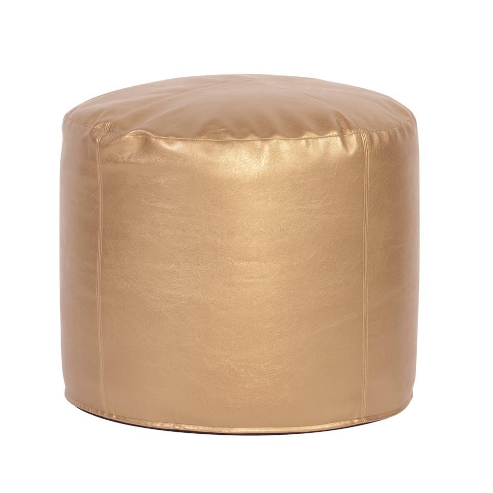 Tall Pouf Shimmer Gold Ottoman