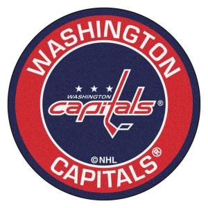 NHL Washington Capitals Red 2 ft. x 2 ft. Round Area Rug