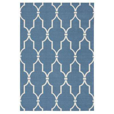 Gentil Delos Blue 8 Ft. X 11 Ft. Indoor/Outdoor Area Rug