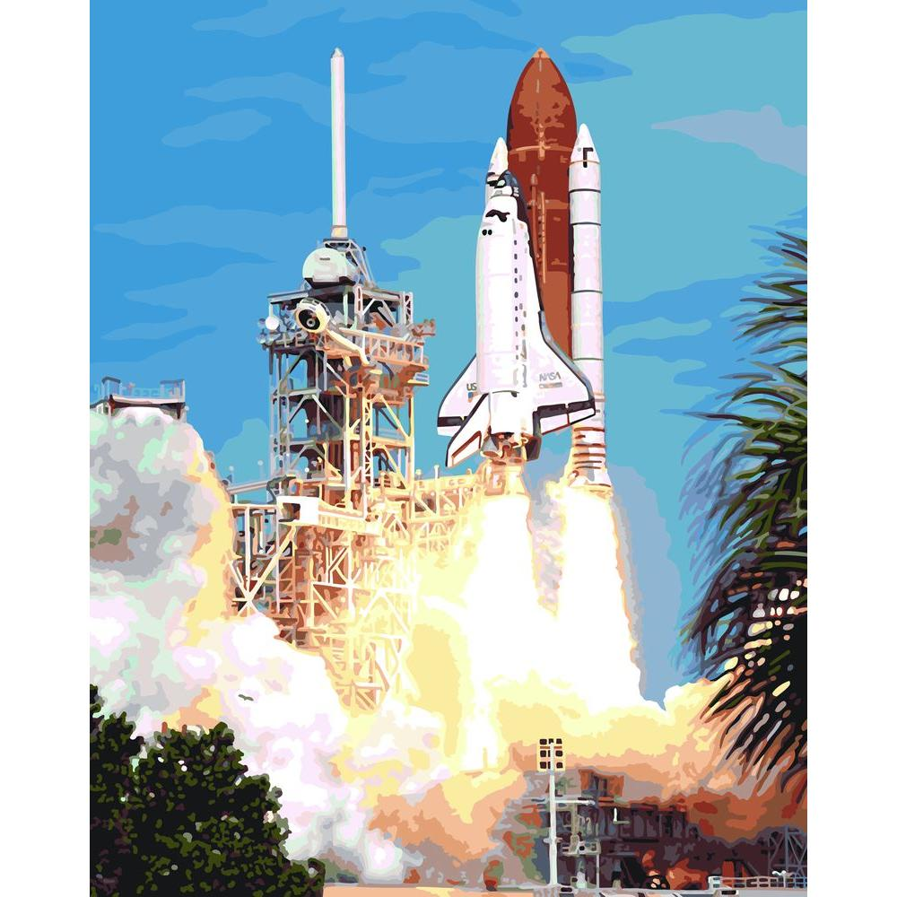 Plaid Paint by Number 16 in. x 20 in. 29-Color Kit Space Shuttle Paint by Number