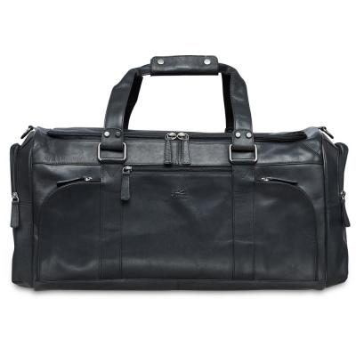 Buffalo Collection 23 in. x 10 in. x 10.25 in. (W x D x H) Black Leather 23 in. Duffel Bag