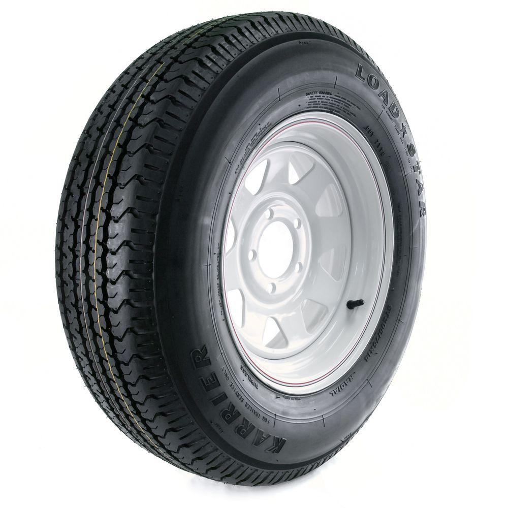 Karrier Radial 205/75R-14 Load Range C 5-Hole Custom Spoke Radial Trailer