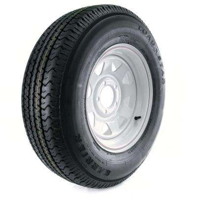 Karrier Radial 205/75R-14 Load Range C 5-Hole Custom Spoke Radial Trailer Tire and Wheel Assembly