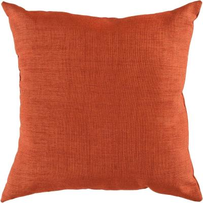 Strahlhorn Orange Solid Polyester 18 in. x 18 in. Throw Pillow