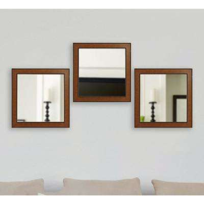 20.5 in. x 20.5 in. Western Rope Square Wall Mirrors (Set of 3)