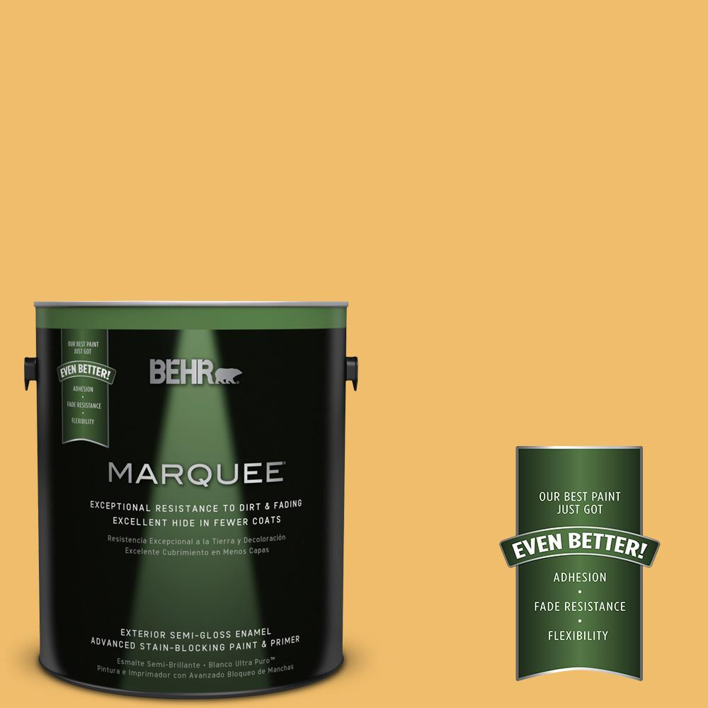 BEHR MARQUEE Home Decorators Collection 1-gal. #HDC-MD-24 Luscious Lemon Semi-Gloss Enamel Exterior Paint