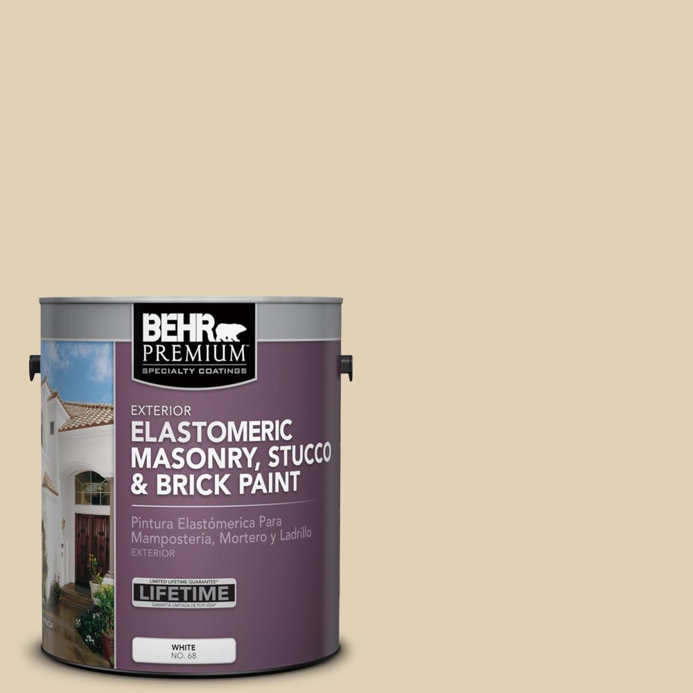 BEHR Premium 1 gal. #N290-3 Comfy Beige Elastomeric Masonry, Stucco and Brick Exterior Paint