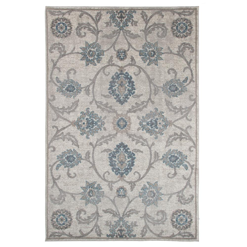 Woolrich Blue And White Floral Rug: Kas Rugs Wedgewood Floral Ivory/Blue 5 Ft. 3 In. X 8 Ft. 3