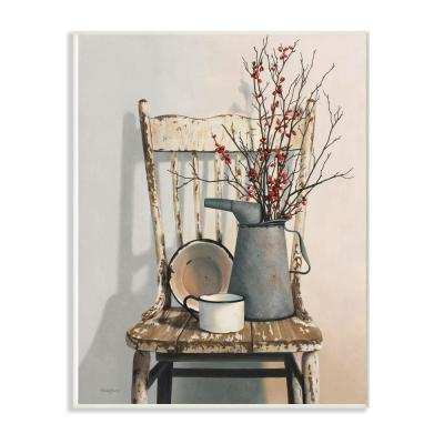 """12 in. x 18 in. """"Vintage Rustic Things Neutral Painting"""" by Cecile Baird Wood Wall Art"""