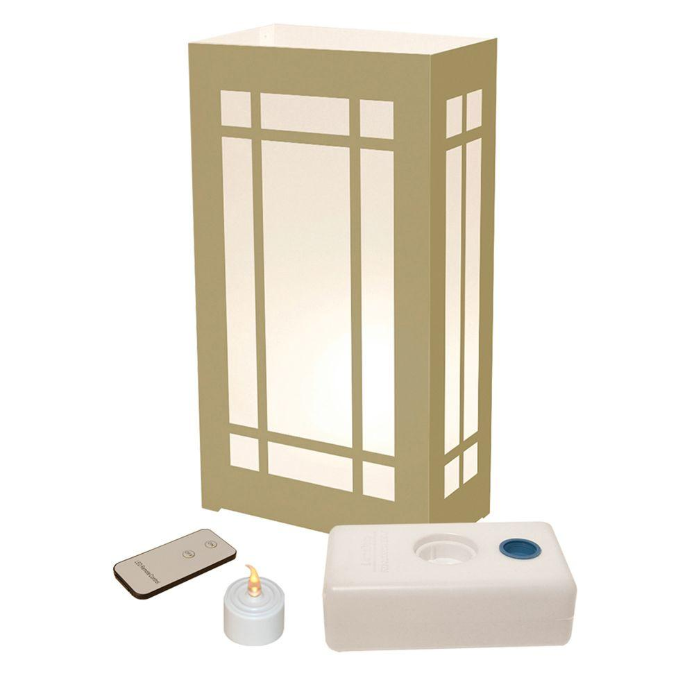Lumabase LED Warm White Lantern Luminaria Kit with Remote Control (Pack of 10)