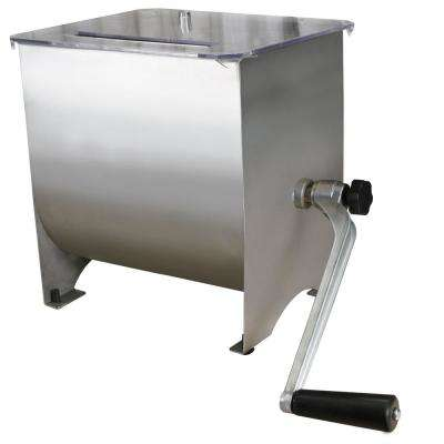 Stainless Steel Manual Meat Mixer - 20 lb Capacity