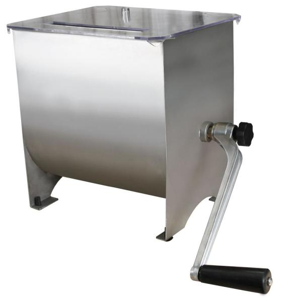 Weston Stainless Steel Manual Meat Mixer - 20 lb Capacity