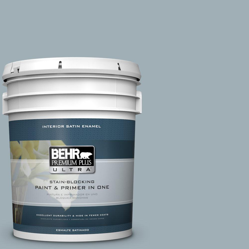 5 gal. #ECC-22-2 Bay View Satin Enamel Interior Paint