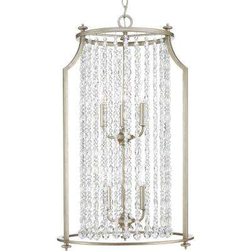 Desiree Collection 6-Light Silver Ridge Pendant