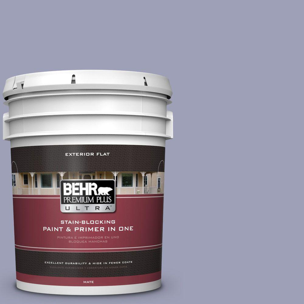 5-gal. #630F-4 Wild Thistle Flat Exterior Paint