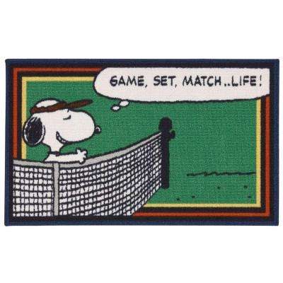 Friends Tennis Green 1 ft. 6 in. x 2 ft. 6 in. Accent Rug