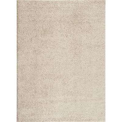 Soft Cozy Solid Cream 8 ft. x 10 ft. Indoor Shag Area Rug