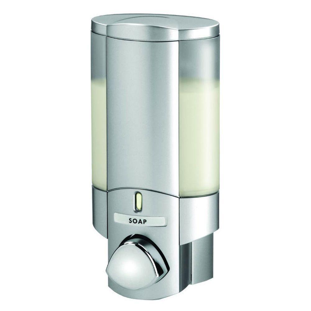 Better Living Products Aviva Single Dispenser in Satin Silver-76130 ...