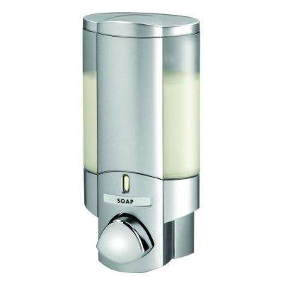 Aviva Single Dispenser in Satin Silver