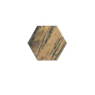 Brown Hexagon 8 in. x 8 in. Matte Ceramic Decorative Bathroom Wall and Floor Tile (7.7 Sq. ft./ Case)