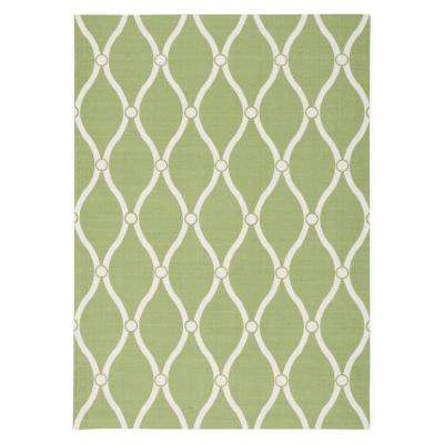 Rhodes Green 8 ft. x 11 ft. Indoor/Outdoor Area Rug