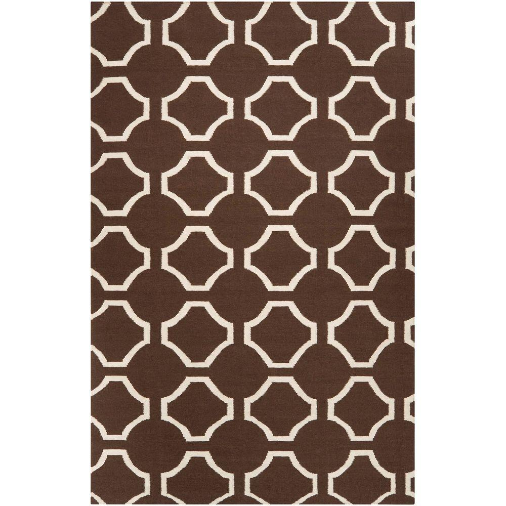 Jill Rosenwald Chocolate 2 ft. x 3 ft. Flatweave Accent Rug