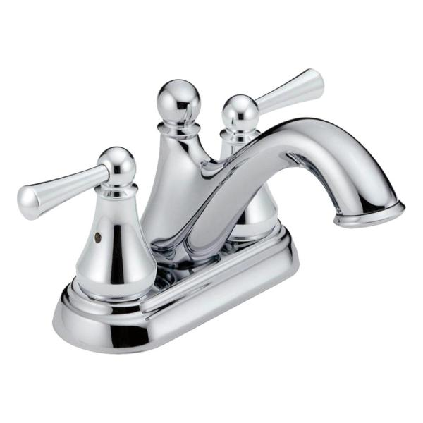 Haywood 4 in. Centerset 2-Handle Bathroom Faucet in Chrome