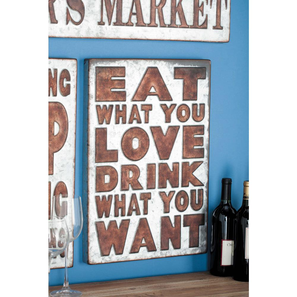 "14 in. x 21 in. Pop Arts ""Eat What You Love"""