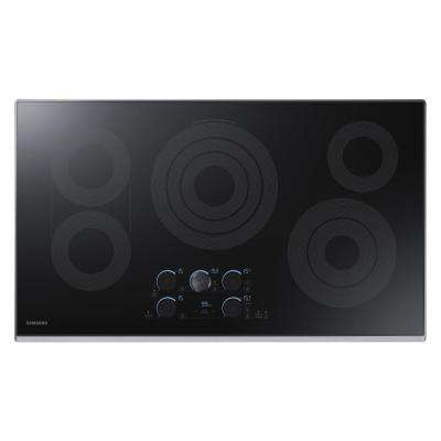 36 in. Ceramic Electric Cooktop in Stainless with 5 Elements including Rapid Boil with WiFi