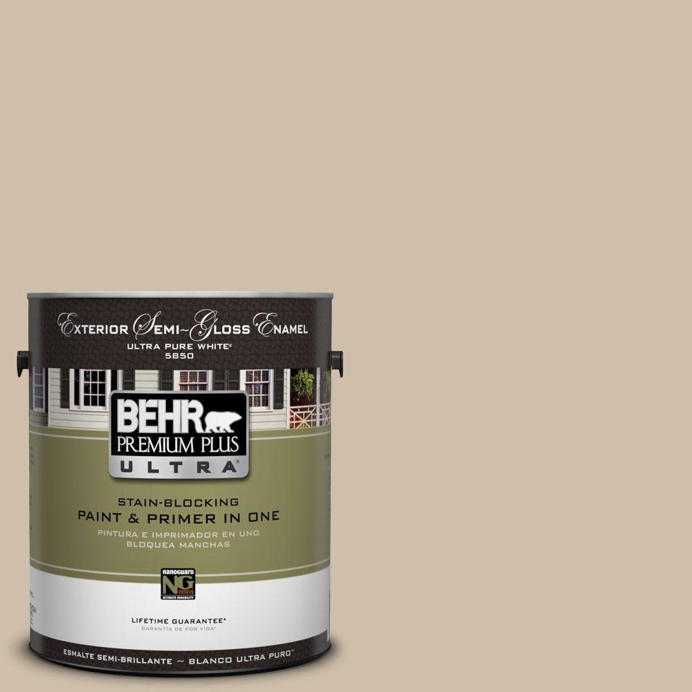 BEHR Premium Plus Ultra 1-Gal. #UL170-7 Cabo Semi-Gloss Enamel Exterior Paint