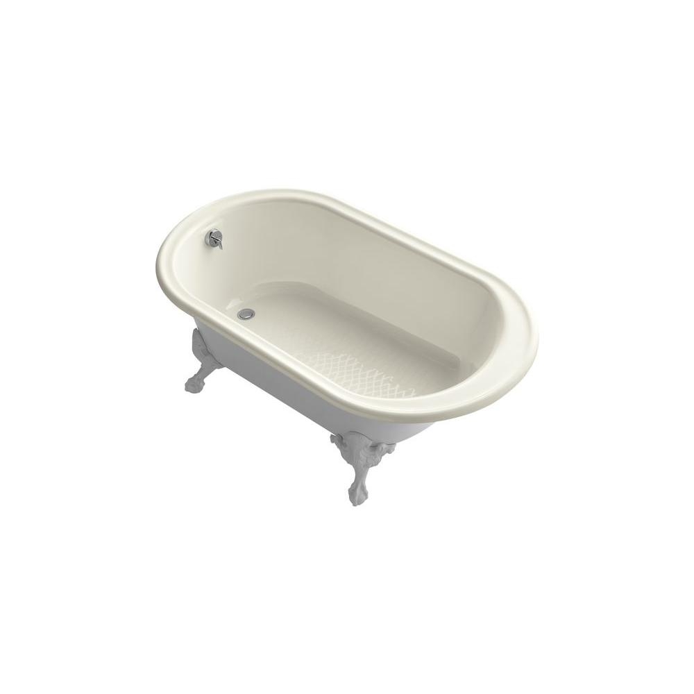 KOHLER Iron Works 5.5 ft. Cast Iron Ball-and-Claw Foot Bathtub in Biscuit