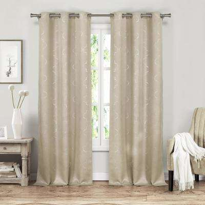 Stephanie 37 in. W x 84 in. L Polyester Window Panel in Mocha