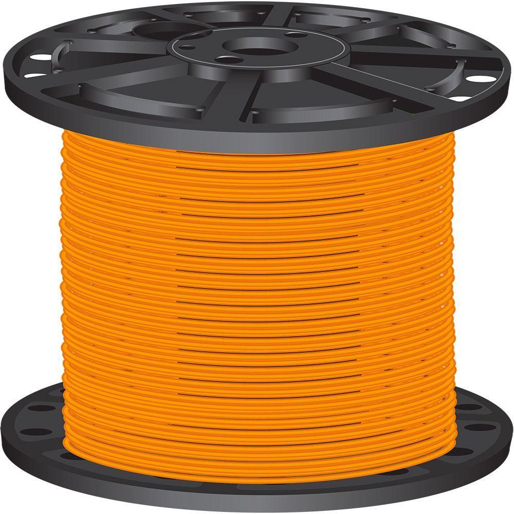 2,500 ft. 10 Orange Stranded CU THHN Wire