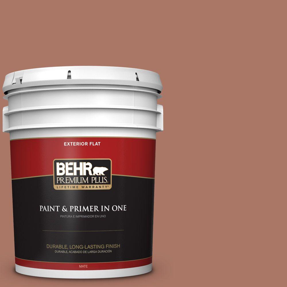 5-gal. #210F-6 Chutney Brown Flat Exterior Paint