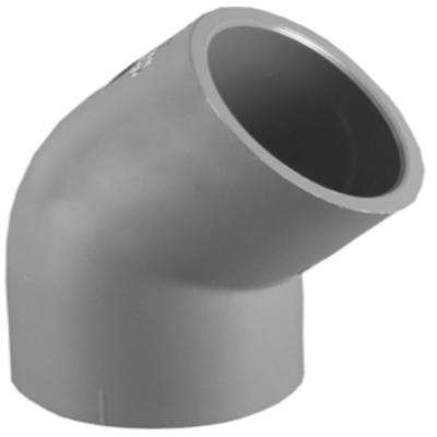 1-1/2 SCH 80 45-Degree Elbow SXS