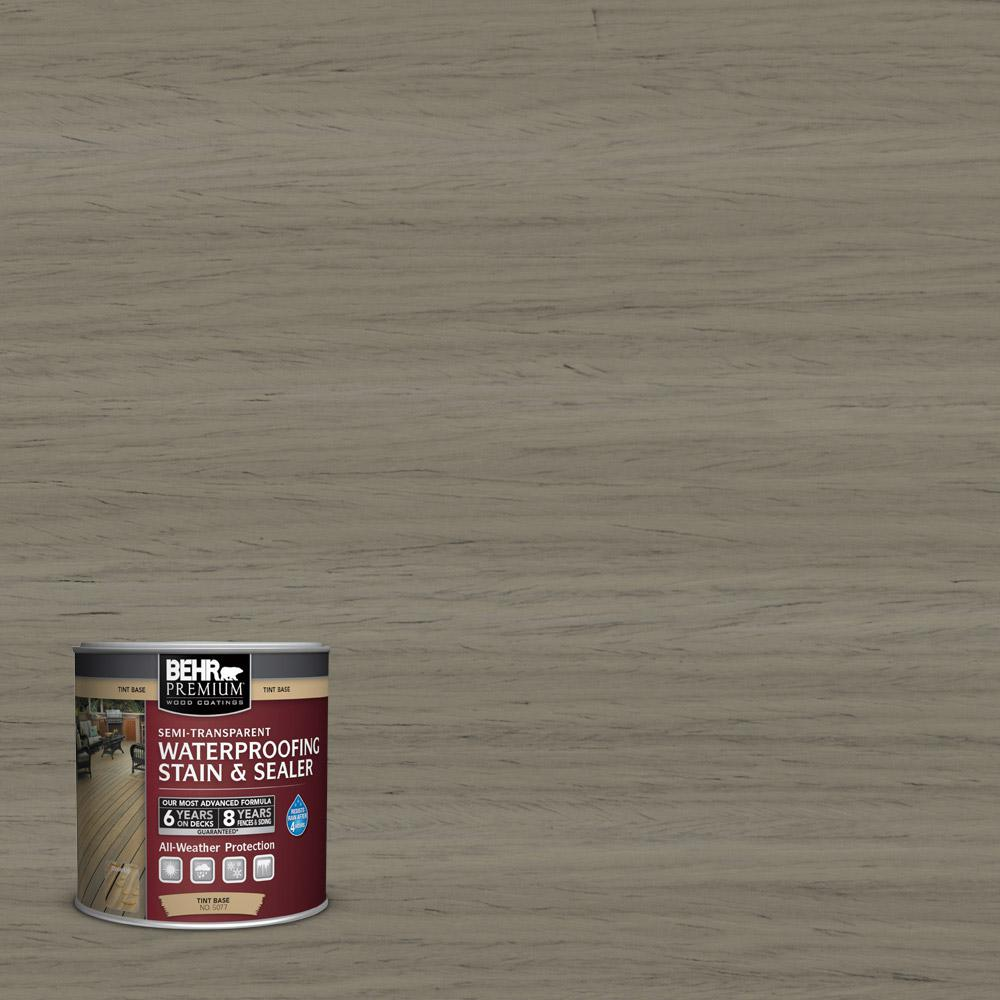 Behr Premium 8 Oz St 154 Chatham Fog Semi Transparent Waterproofing Exterior Wood Stain And