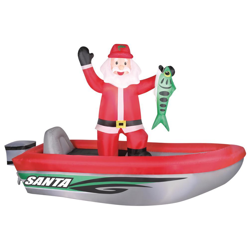 10 ft. Inflatable Fishing Santa