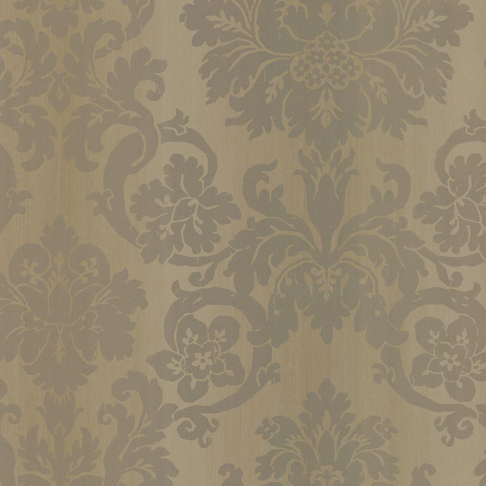 Brewster 56 sq. ft. Silk Damask Wallpaper