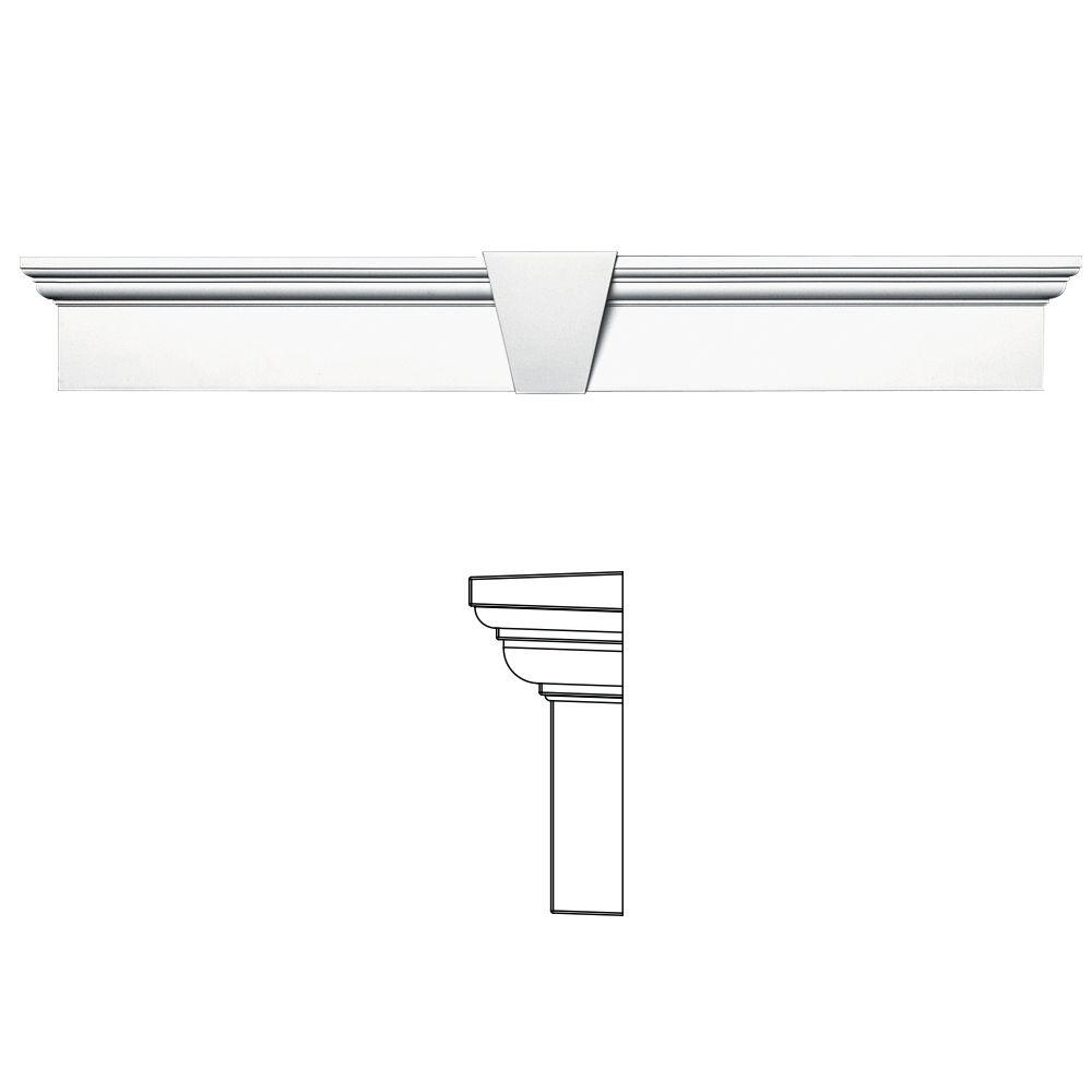 6 in. x 43-5/8 in. Flat Panel Window Header with Keystone