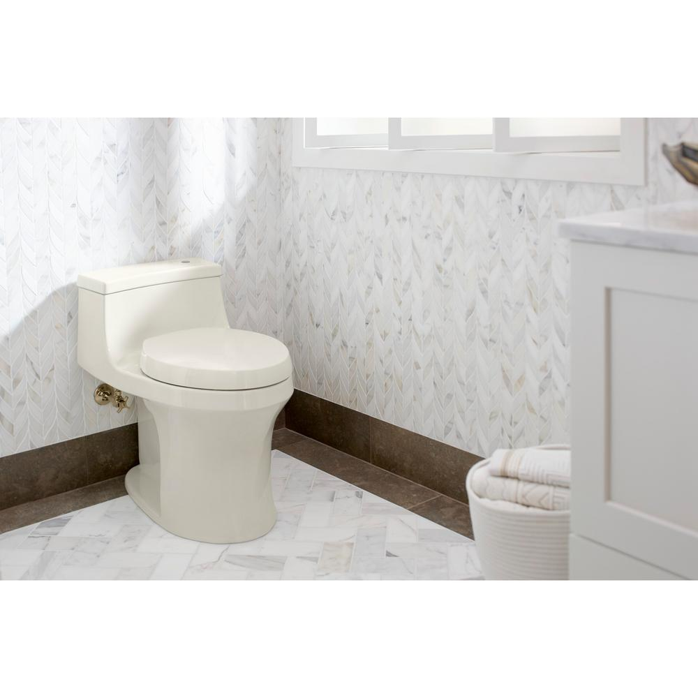 Superb Kohler Purefresh Elongated Closed Front Toilet Seat In Biscuit Camellatalisay Diy Chair Ideas Camellatalisaycom