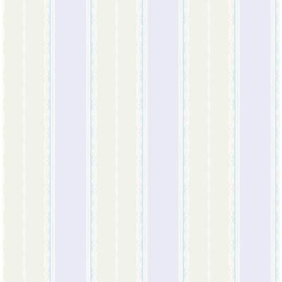 Kids Glitter Frills Lilac and Gray Striped Wallpaper