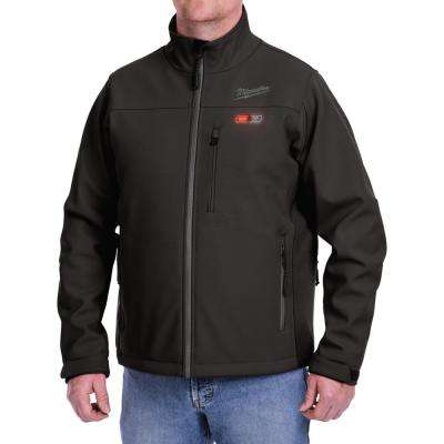 Large M12 12-Volt Lithium-Ion Cordless Black Heated Jacket (Jacket-Only)