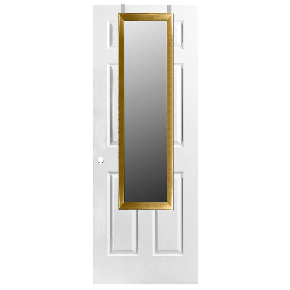 Home Basics Rectangle Gold Over the Door Mirror was $29.99 now $19.66 (34.0% off)