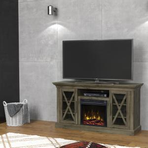 Classic Flame Cottage Grove 53.80 inch Media Console Electric Fireplace in Spanish Gray by Classic Flame