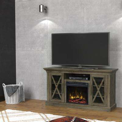 Media Console Electric Fireplace In Spanish Gray