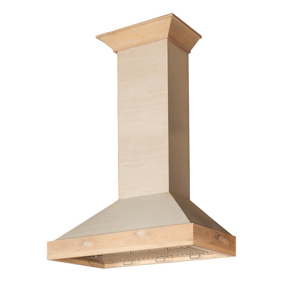 original wood wall mount range hood 18